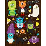 K and Company - Spooktacular Collection - Grand Adhesion Stickers with Epoxy and Glitter Accents - Monster, CLEARANCE