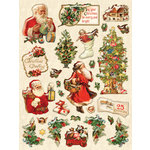 K and Company - Yuletide Collection - Christmas - Clearly Yours - Epoxy Stickers with Glitter Accents - Icons