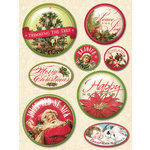 K and Company - Yuletide Collection - Christmas - 3 Dimensional Stickers with Glitter Accents - Snow Globe