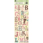 K and Company - Blossom Collection - Die Cut Stickers - Alphabet