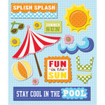 K and Company - Life's Little Occasions Collection - 3 Dimensional Stickers with Epoxy and Glitter Accents - At The Pool, CLEARANCE
