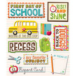 K and Company - Life's Little Occasions Collection - 3 Dimensional Stickers with Epoxy and Foil Accents - First Day of School, CLEARANCE