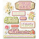 K and Company - Life's Little Occasions Collection - 3 Dimensional Stickers  with  Epoxy and Glitter Accents - The Wake