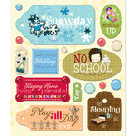 K and Company - Life's Little Occasions Collection - 3 Dimensional Stickers with Epoxy and Foil Accents - Snow day