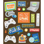 K and Company - Life's Little Occasions Collection - 3 Dimensional Stickers with Varnish Accents - Video Games, CLEARANCE
