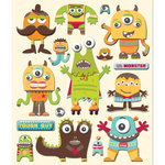 K and Company - Life's Little Occasions Collection - 3 Dimensional Stickers  with  Puffy Accents - Monsters