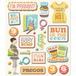 K and Company - Life's Little Occasions Collection - 3 Dimensional Stickers with Epoxy and Glitter Accents - First Child