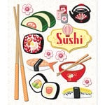 K and Company - Life's Little Occasions Collection - 3 Dimensional Stickers with Epoxy and Glitter Accents - Sushi, BRAND NEW
