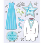 K and Company - Life's Little Occasions Collection - 3 Dimensional Stickers  with  Foil and Glitter Accents - Prom