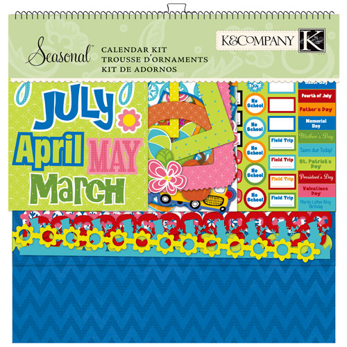 K and Company - Seasonal Collection - Calendar Kit