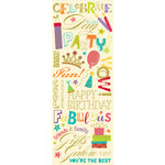 K and Company - Confetti Collection - Rub Ons with Glitter and Gem Accents - Word, CLEARANCE