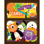 K and Company - Spooktacular Collection - Layered Accents with Glitter Accents - Candy and Characters, CLEARANCE