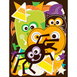 K and Company - Spooktacular Collection - Die Cut Cardstock Pieces with Glitter Accents - Icons, CLEARANCE