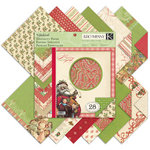 K and Company - Yuletide Collection - Christmas - 12 x 12 Specialty Paper Pad with Foil Accents