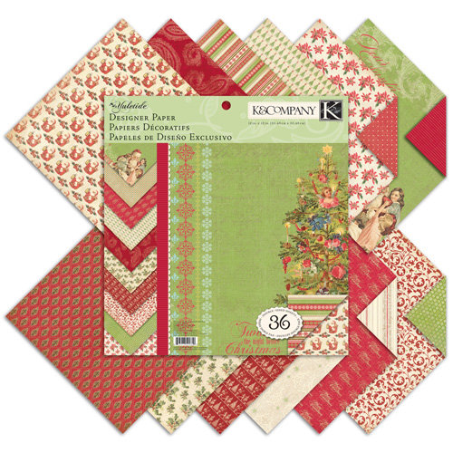 K and Company - Yuletide Collection - Christmas - 12 x 12 Designer Paper Pad, CLEARANCE