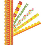 K and Company - Adhesive Paper Borders with Glitter Accents - Lemon Citron, CLEARANCE