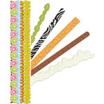 K and Company - Adhesive Paper Borders - On A Safari, CLEARANCE