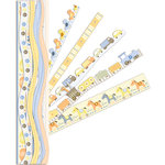K and Company - Itsy Bitsy Collection - Adhesive Paper Borders with Glitter Accents - Baby Boy