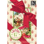 K and Company - Yuletide Collection - Christmas - Chipboard Box with Foil Accents, CLEARANCE