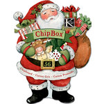 K and Company - Glad Tidings Collection - Christmas - Chipboard Box with Glitter Accents, CLEARANCE