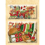 K and Company - Glad Tidings Collection - Christmas - Layered Accents with Glitter Accents - Sleigh and Deer, BRAND NEW