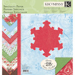 K and Company - Let It Snow Collection - 12 x 12 Specialty Paper Pad with Foil and Glitter Accents, CLEARANCE