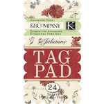 K and Company - Julianne Collection - Tag Pad - Patterned
