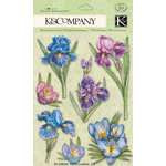 K and Company - Cottage Garden Collection by Tim Coffey - Grand Adhesions with Glitter Accents - Cool Mix, CLEARANCE
