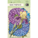 K and Company - Cottage Garden Collection by Tim Coffey - Die Cut Cardstock and Acetate Pieces with Foil Accents - Cool Mix