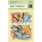K and Company - Spring Blossom Collection - Layered Accents with Glitter Accents - Bugs and Butterfly