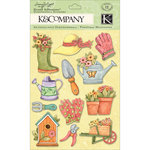 K and Company - Spring Blossom Collection - Grand Adhesions with Glitter Accents - Gardening