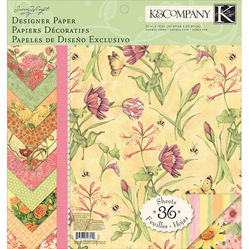 K and Company - Spring Blossom Collection - 12 x 12 Designer Paper Pad