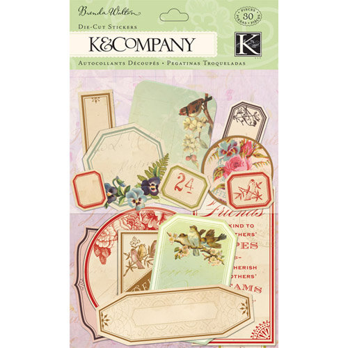 K and Company - Flora and Fauna Collection - Die Cut Stickers - Apothecary Label