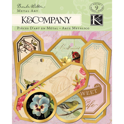 K and Company - Flora and Fauna Collection - Metal Art - Tag