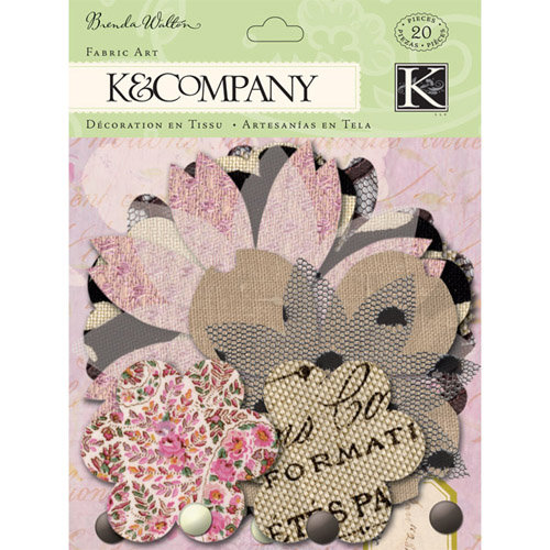 K and Company - Flora and Fauna Collection - Fabric Art - Flower Petal, CLEARANCE