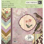 K and Company - Flora and Fauna Collection - 12 x 12 Specialty Paper Pad, CLEARANCE