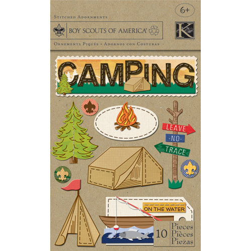 K and Company - Boy Scouts of America Collection - Stitched Adornments Stickers - Camp