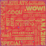 K and Company - Confetti Collection - 12 x 12 Paper - Big Words, CLEARANCE