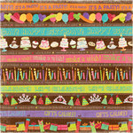 K and Company - Confetti Collection - 12 x 12 Paper - Ribbon Words