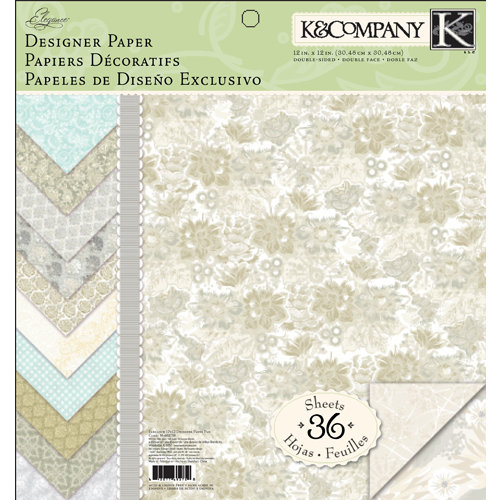 K and Company - Elegance Collection - 12 x 12 Designer Paper Pad
