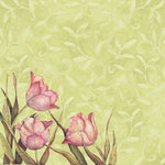 K and Company - Spring Blossom Collection - 12 x 12 Paper - Primrose