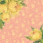 K and Company - Spring Blossom Collection - 12 x 12 Paper - Mums