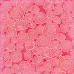 K and Company - Valentine Collection - 12 x 12 Paper with Glitter Accents - Roses
