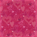 K and Company - Valentine Collection - 12 x 12 Paper - Hearts a Flutter