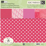 K and Company - Valentine Collection - 12 x 12 Specialty Paper Pack