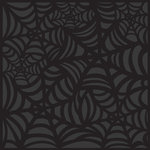 K and Company - Spooktacular Collection - 12 x 12 Paper - Black Web