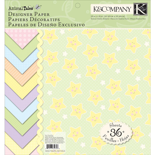 K and Company - Animal Tales Collection - 12 x 12 Designer Paper Pad
