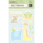 K and Company - Animal Tales Collection - Grand Adhesions with Glitter Accents - Baby Boy