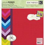 K and Company - Color Basics Collection - 12 x 12 Designer Paper Pad - Vivid