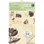 K and Company - Flora and Fauna Collection - Designer Paper Pad - Ledger, CLEARANCE